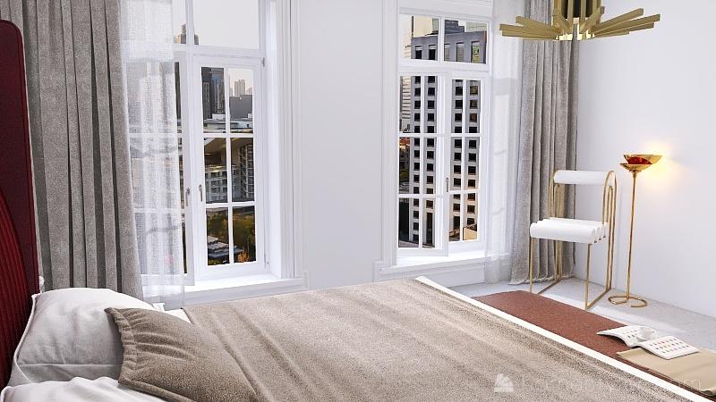 dorm Interior Design Render