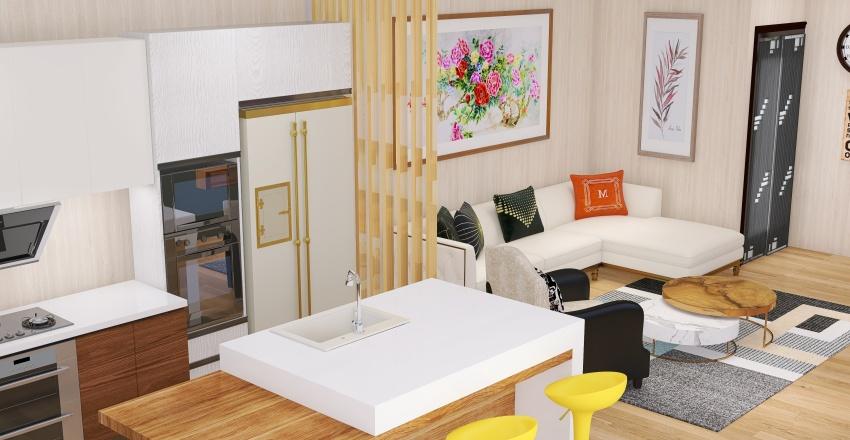 SGB Pool House Interior Design Render