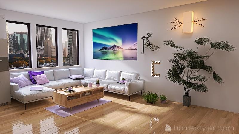 Facs Entertianment room Interior Design Render