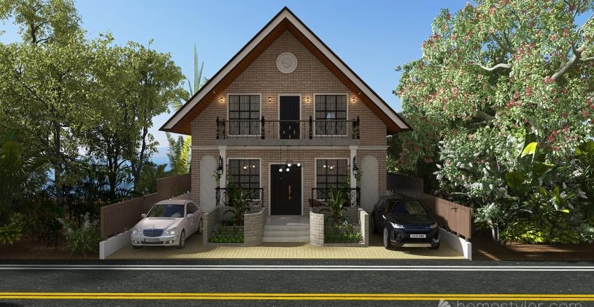 Petit Maison Tropicale Interior Design Render
