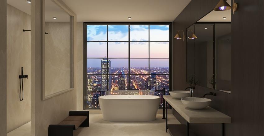 Sunset Apartment Interior Design Render