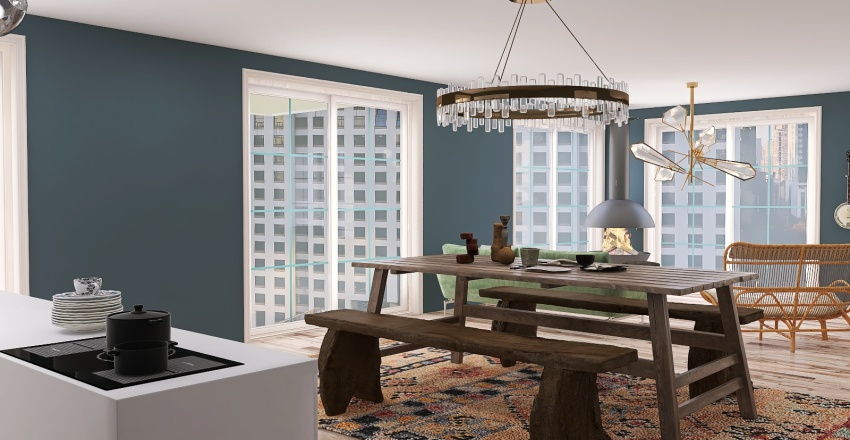 Apartment Building  Interior Design Render