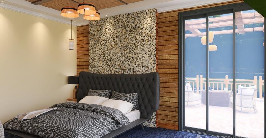 two story villa Interior Design Render