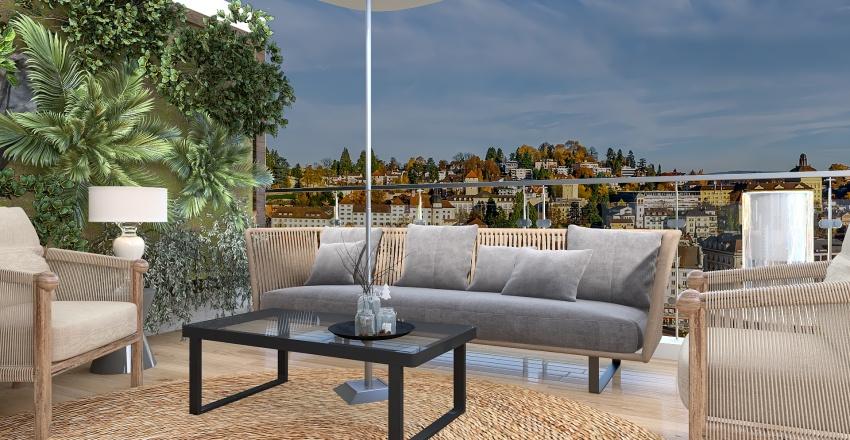Terrace Interior Design Render