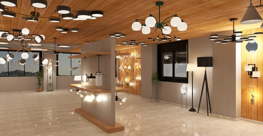 Lighting Gallery Interior Design Render