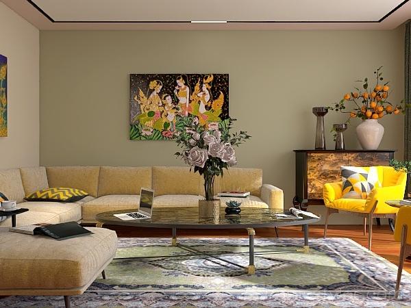 Stanza con Balcone Interior Design Render