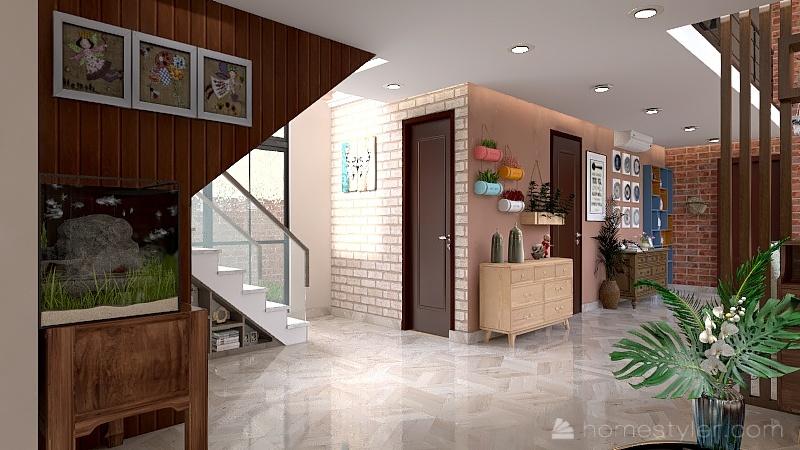 Alano Residence - Bohemian Retro Design Interior Design Render