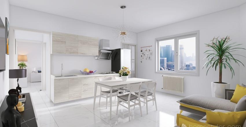 Milano_Greco_Via Portinari 2 P.R Interior Design Render