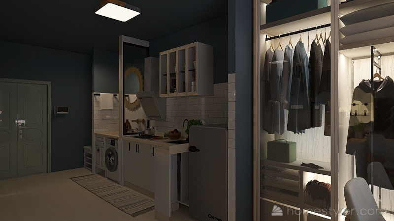 Studio Type Condo unit Interior Design Render