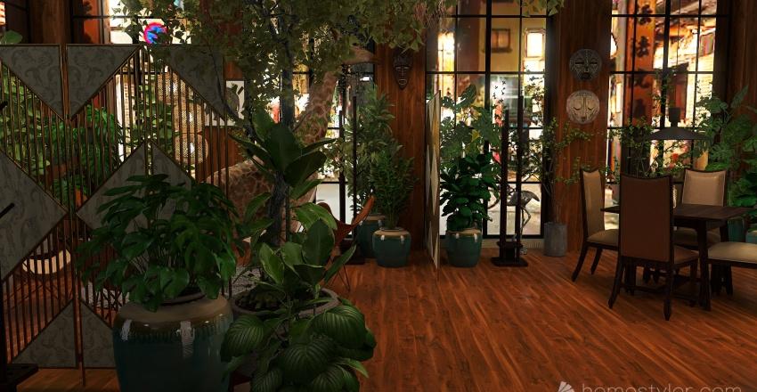 Djungel themed cafe' Interior Design Render