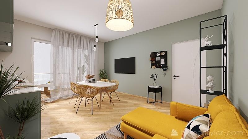 Senior Housing - Apart 3 Interior Design Render
