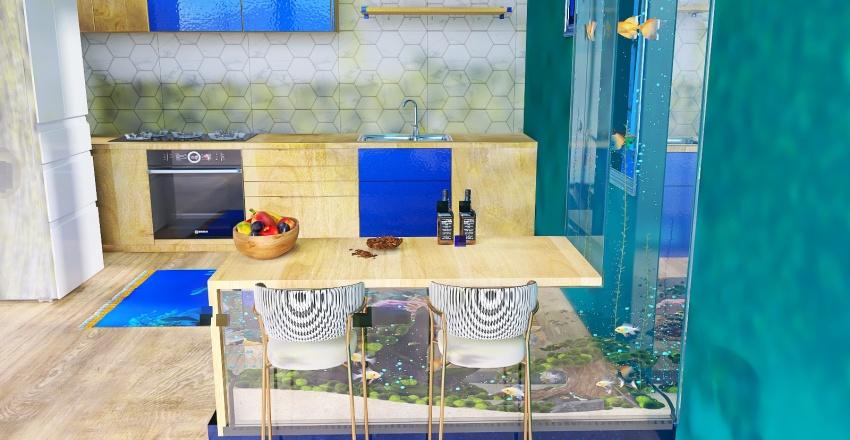 Crazy Fish House Interior Design Render