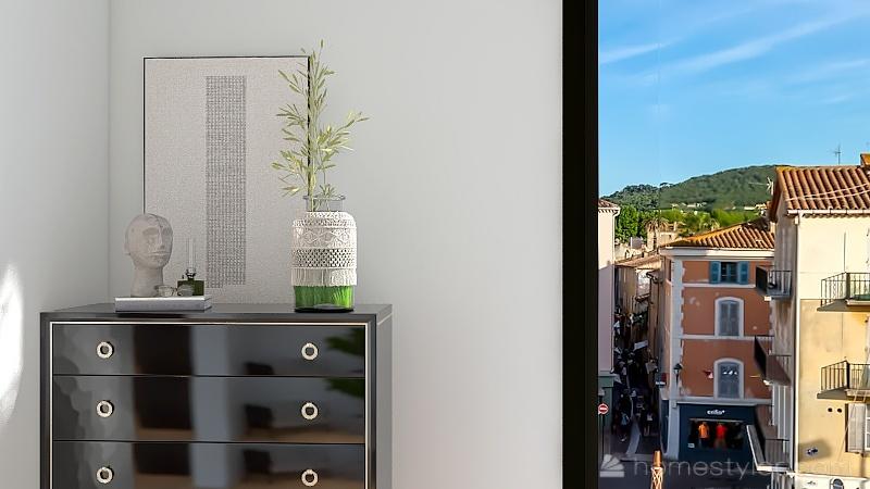 Habitación principal con baño Interior Design Render