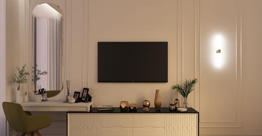 Grand Hayat - Master Bedroom Interior Design Render