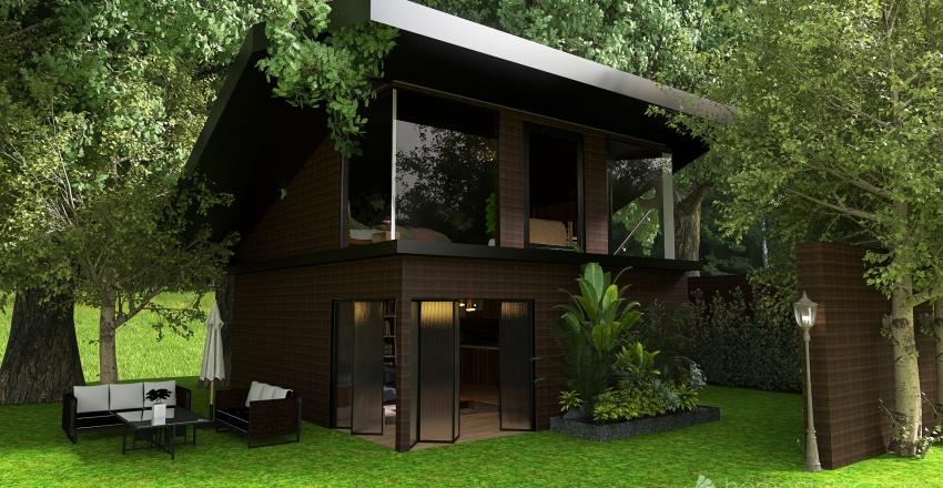 Şirin Bir Dağ Evi Interior Design Render
