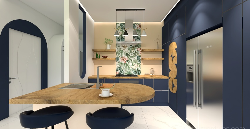 Home office for an Architect Interior Design Render