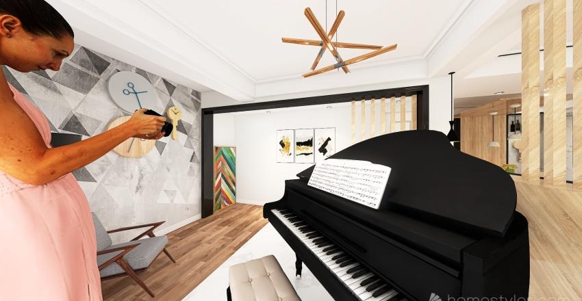 Weekend Chalet Interior Design Render