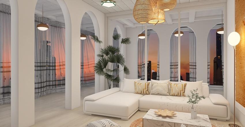 sunset Interior Design Render