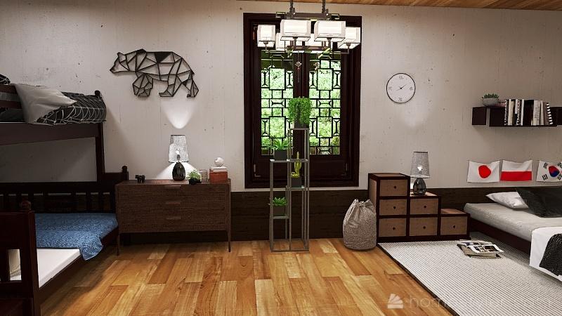 Yamanashi House Interior Design Render