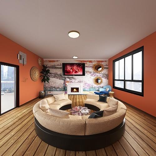 Design Principles: Contrast Interior Design Render