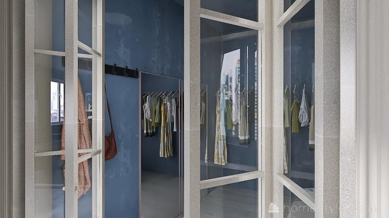 Bedroom   Closet Interior Design Render