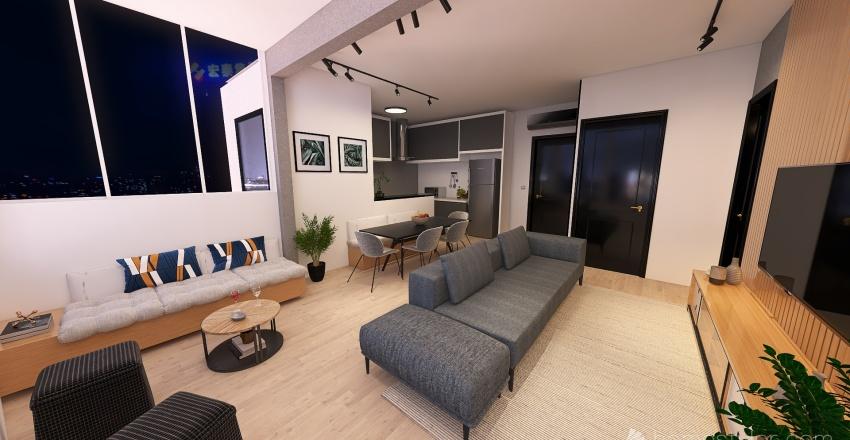 174 - Escritório na varanda Interior Design Render