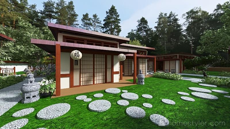 Japanese Estate Interior Design Render
