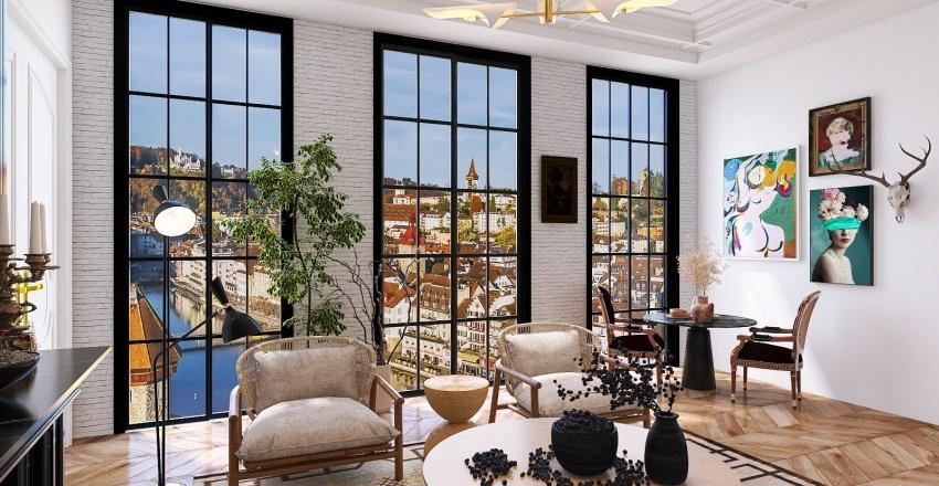 Eclectic - Kitchen & Dinning Interior Design Render