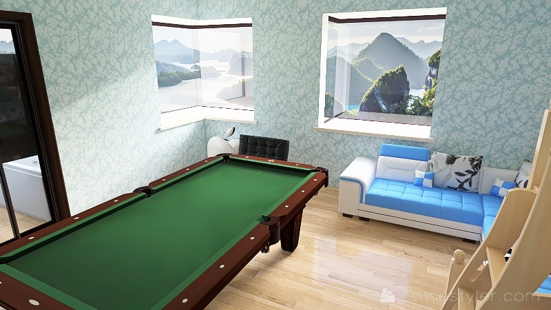 U2A1 WELCOME TO MY HOUSE RYAN KANT HOUSE. Interior Design Render