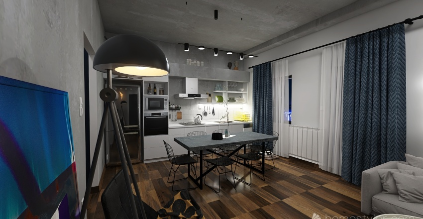 LAB_VIRONAS_EM_GROUND FLOOR & 1ST FLOOR APARTMENT RENOVATION (II) Interior Design Render