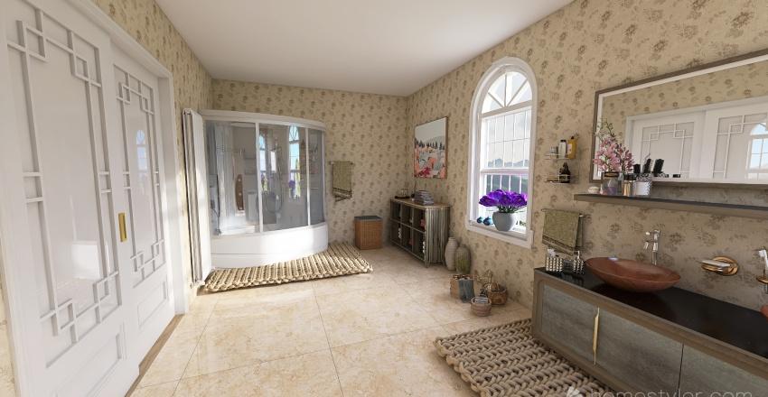 Villa alle isole greche Interior Design Render