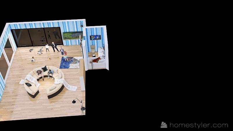 U2A1 welcome to my to bedroom Deciccio,Domenic Interior Design Render