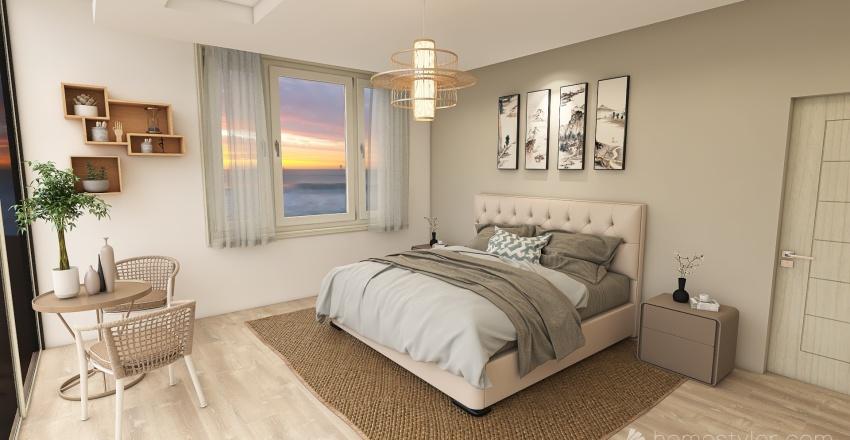 Dormitorio Sofía Mulánovich - Japandi. Interior Design Render
