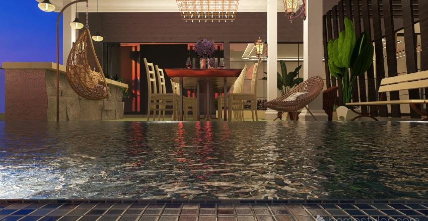 Vacation House Interior Design Render