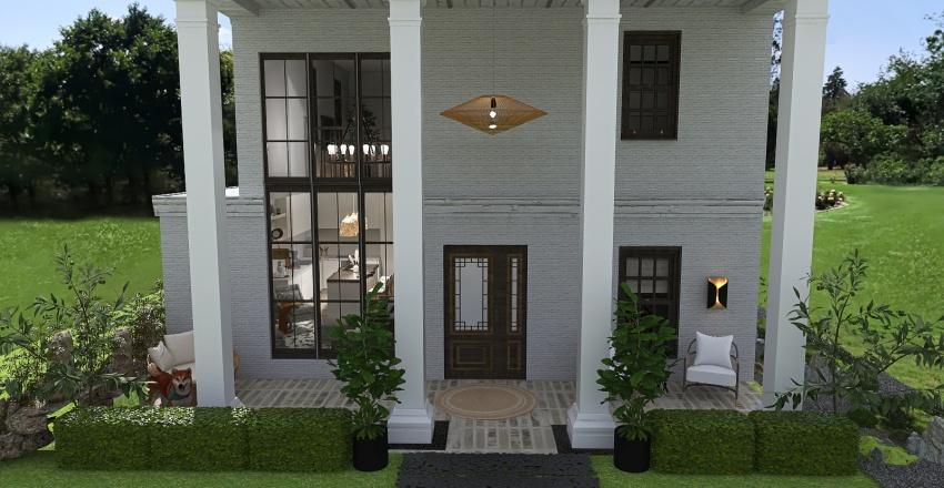 Copy of Modern Boho 2B 2B Bungalow Interior Design Render