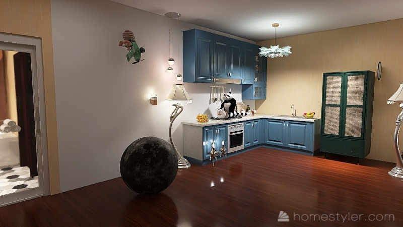U2A1 welcome to house my Thomas.D Interior Design Render