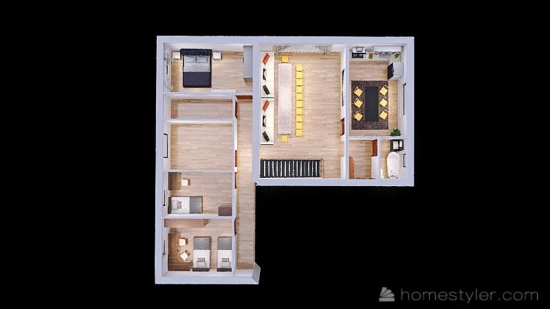 Второй этаж Interior Design Render