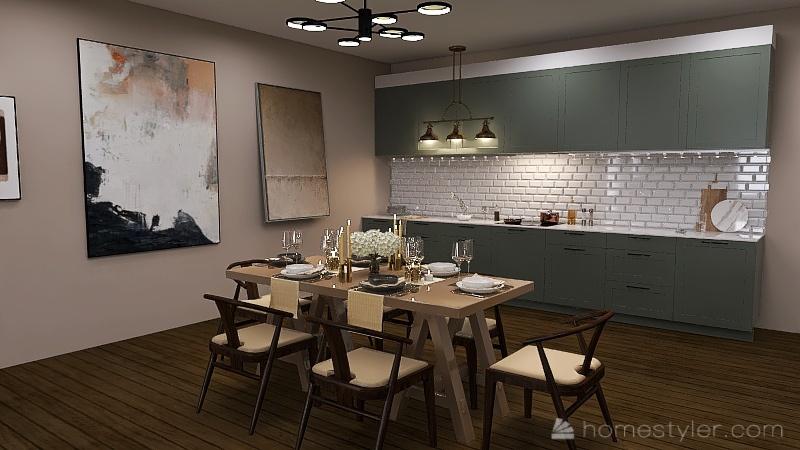 Boho-themed-house Interior Design Render