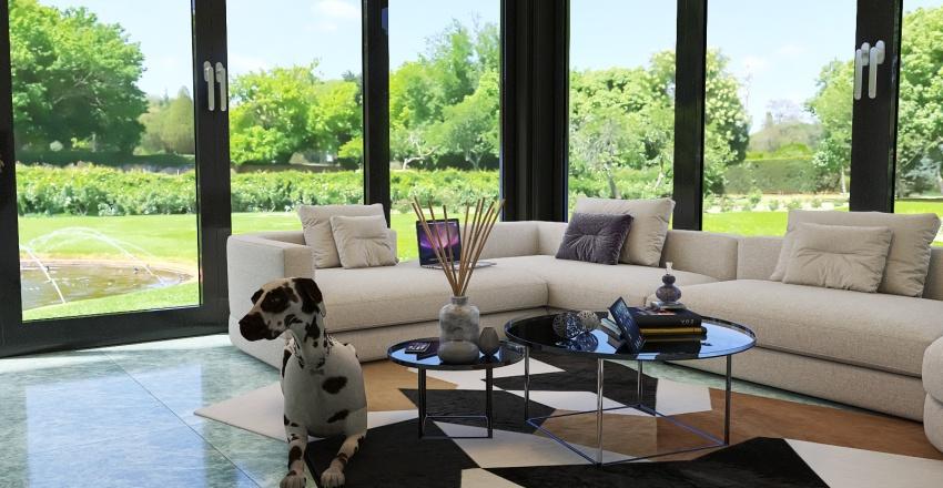 Cozy Quiet Country House Interior Design Render