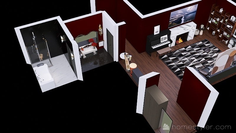 Copy of U2A2 ( My bedroom) Welcome to my home (Mark H) Interior Design Render