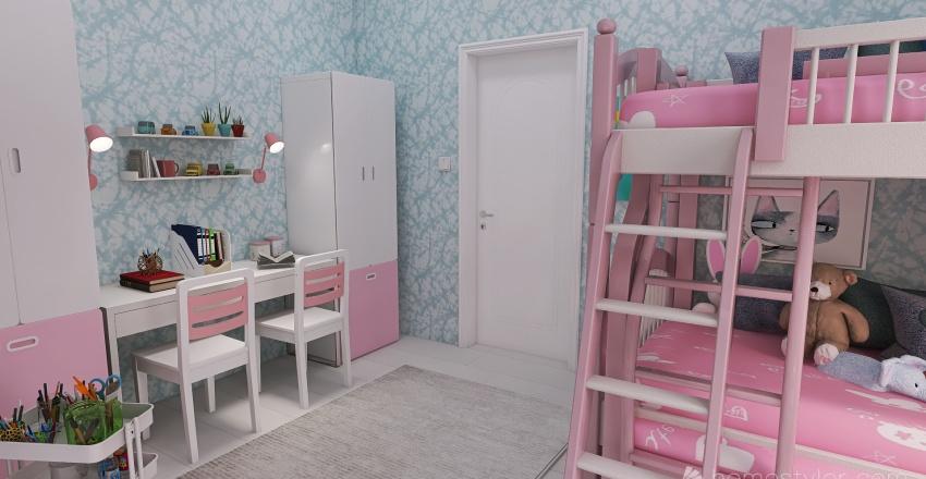 4 Kids in 1 Room Interior Design Render