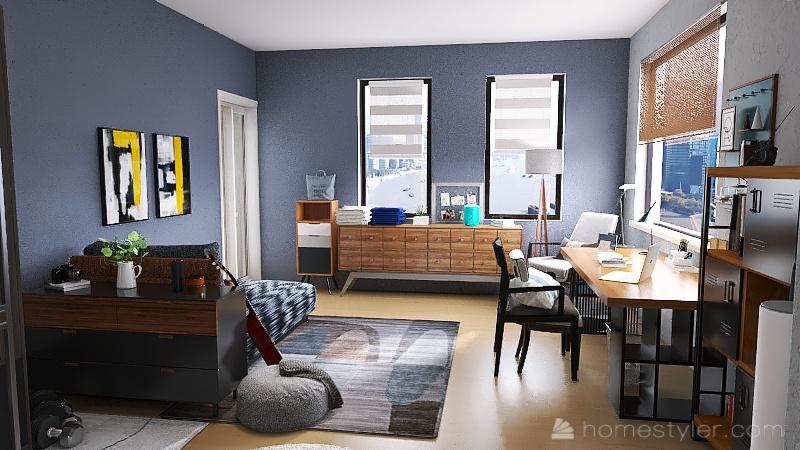 老屋改造小套房 Interior Design Render