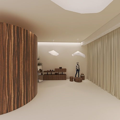 Winnie's Boutique Interior Design Render