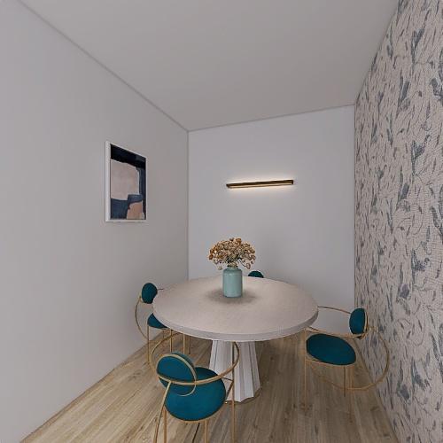 blue accesories Interior Design Render