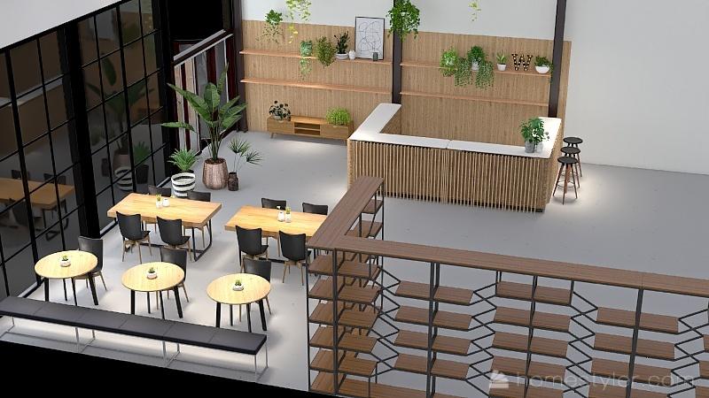 Waypoint Cyclery Interior Design Render