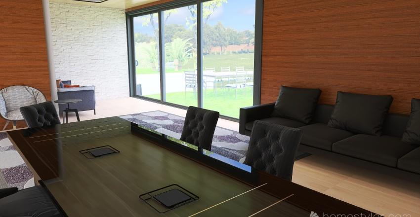 Mansión moderna en la naturaleza Interior Design Render