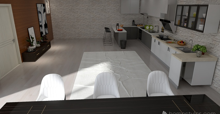 Departamento moderno 2 Interior Design Render