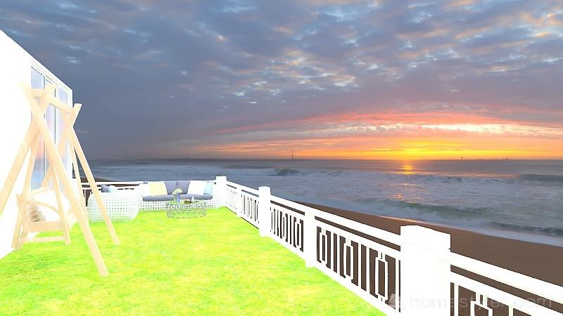 My lonley beach cabin Interior Design Render