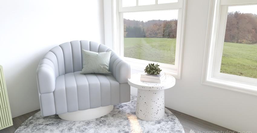 Pastel bedroom Interior Design Render