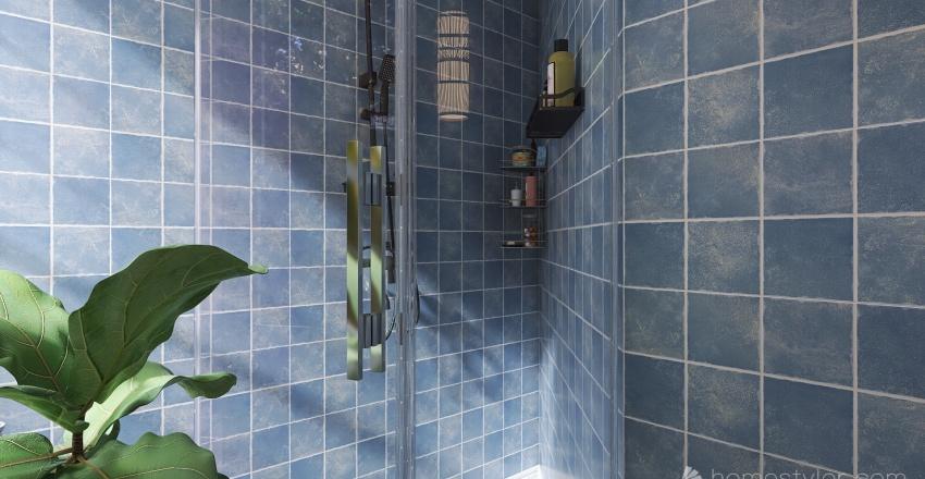 Blue Apartment Interior Design Render